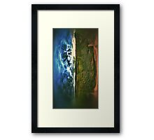 Side by side earth and sky Framed Print