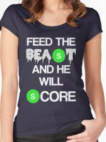 'Feed The Beast' Marshawn Lynch Women's Fitted Scoop T-Shirt