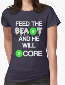 'Feed The Beast' Marshawn Lynch Womens Fitted T-Shirt