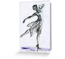 Butterfly Dance, Ballet 14, children, Woman dancing, ink & oil on paper  Greeting Card