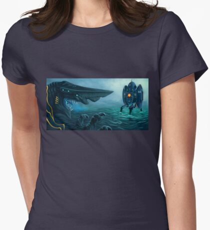 Danger in the Pacific! Womens Fitted T-Shirt