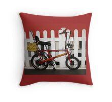 Vintage chopper bike   Throw Pillow
