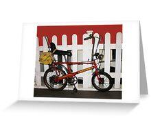 Vintage chopper bike   Greeting Card