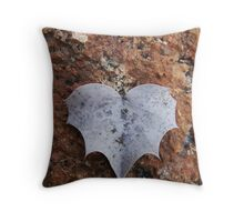 52/365 this heart is batty Throw Pillow