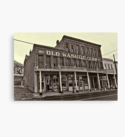Old Washoe Club 1862 Canvas Print
