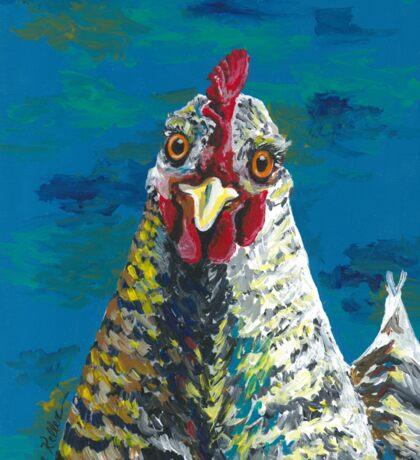 Chicken art, colorful hen art Sticker
