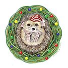 Holiday Hedgehog ~ Season's Greetings! by Tamara Clark
