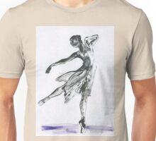 Butterfly Dance, Ballet 14, children, Woman dancing, ink & oil on paper  Unisex T-Shirt