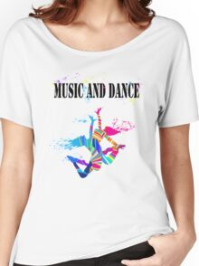 MUSIC AND DANCE Women's Relaxed Fit T-Shirt