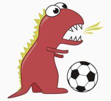 Funny Cartoon Dinosaur Soccer Shirt Kids Clothes