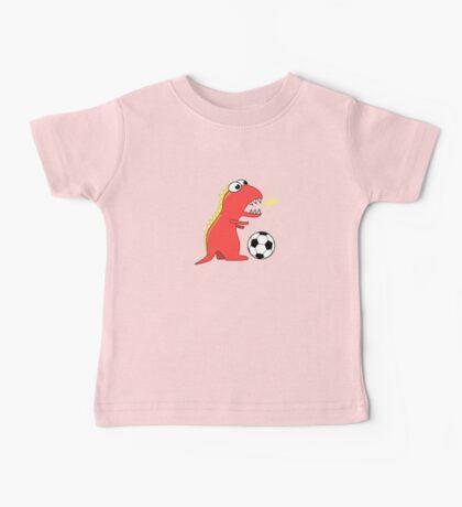Funny Cartoon Dinosaur Soccer Shirt Baby Tee