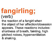 Fangirling Photographic Print