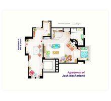 "Jack MacFarland's apartment from ""Will & Grace"" Art Print"