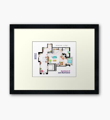 "Jack MacFarland's apartment from ""Will & Grace"" Framed Print"