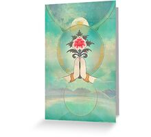 Divine Offering (Anjali Mudra) Greeting Card