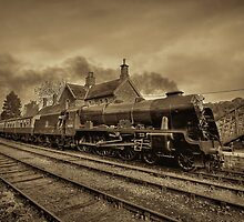 46100 Royal Scot  - Sepia Version by © Steve H Clark Photography
