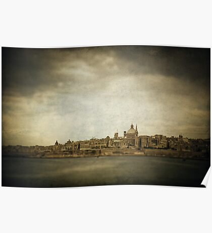 Valetta from the water Poster