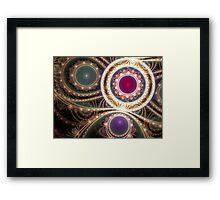 Gems & Gold Framed Print