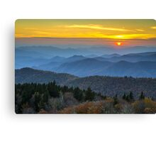 Blue Ridge Parkway Sunset - For the Love of Autumn Canvas Print