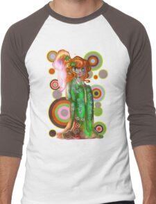 Ginger Kimono Girl Men's Baseball ¾ T-Shirt