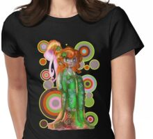 Ginger Kimono Girl Womens Fitted T-Shirt