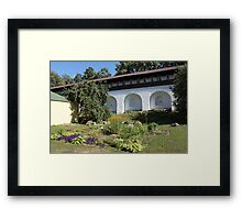 Ancient wall and nature Framed Print