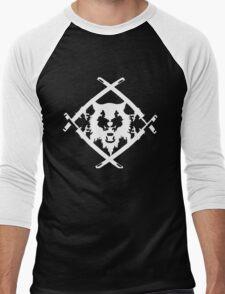Xavier Wulf Black Men's Baseball ¾ T-Shirt