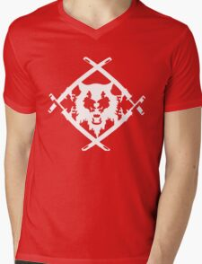 Xavier Wulf Black Mens V-Neck T-Shirt