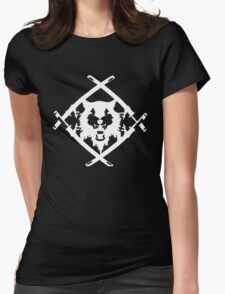 Xavier Wulf Black Womens Fitted T-Shirt