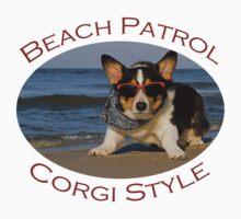 Beach Patrol Corgi Style by William C. Gladish