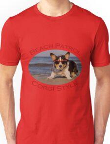 Beach Patrol Corgi Style Unisex T-Shirt