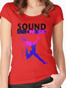 SOUND AND MUSIC Women's Fitted Scoop T-Shirt