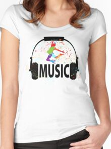 MUSIC Women's Fitted Scoop T-Shirt