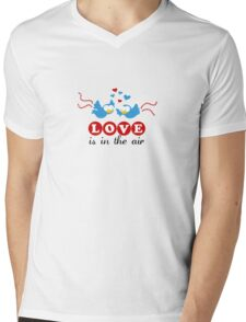 Love Is In The Air Mens V-Neck T-Shirt