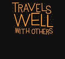 TRAVELS WELL WITH OTHERS Womens Fitted T-Shirt