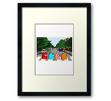 Pac Man Abbey Road Framed Print