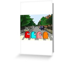 Pac Man Abbey Road Greeting Card