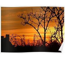 Sunset in October Poster
