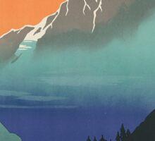 Vintage Travel Poster: Kashmir Sticker