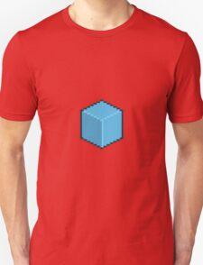 Blue Pixel-Art Cube T-Shirt