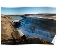 Gullfoss waterfall in Iceland Poster