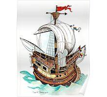 Hanseatic Ship Poster