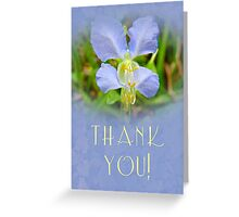 Thank You Greeting Card - Asian Day Flower Greeting Card