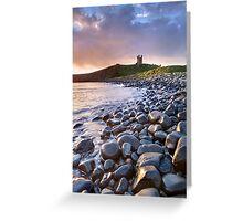 Dunstanburgh Castle Dawn Greeting Card