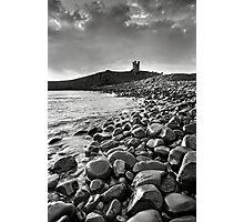 Dunstanburgh Castle - Mono Photographic Print