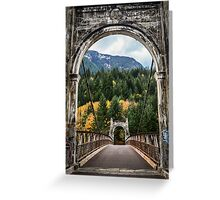 Alexandra Suspension Bridge Greeting Card