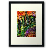 River Walking Downtown Framed Print