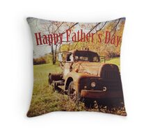 Happy Father's Day Throw Pillow