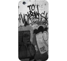 graffiti black n' white iPhone Case/Skin