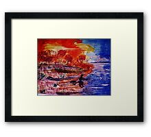 Hard week, time to go fishing, watercolor Framed Print